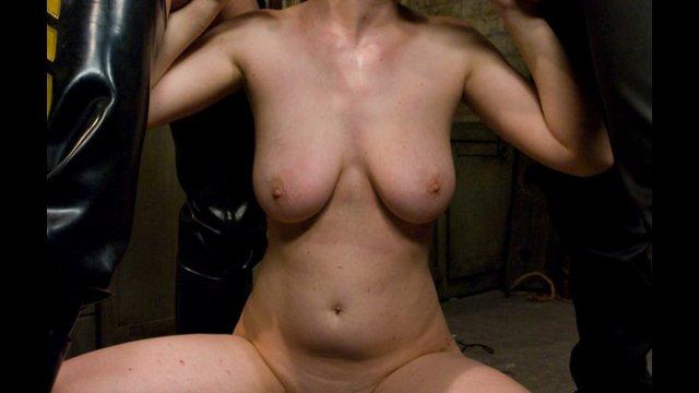 Mature pantyhose tied up